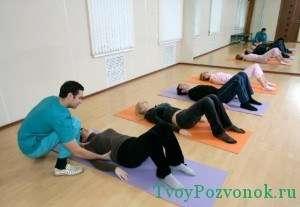 Упражнения под присмотром инструктора