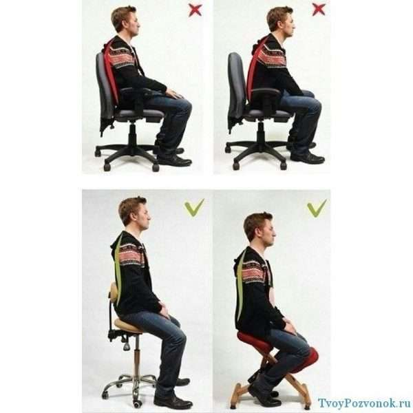 Как правильно сидеть за стулом и каким он должен быть