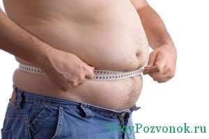 Ожирение - одна из причин возникновения дорсопатии грудного отдела