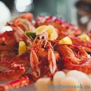 Морепродукты - важный элемент при диете