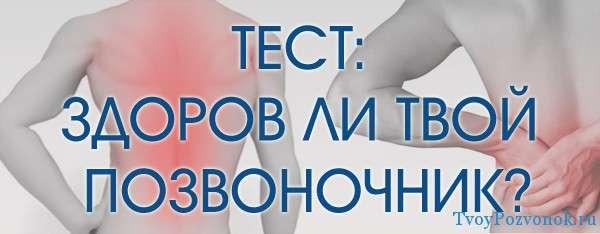Пройти тест на боль в позвоночнике