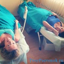 Пациентки на процедуре массажа