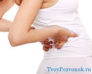 Симптомы - прострелы и резкие боли в спине