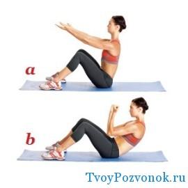 Поджимание тела к ногам