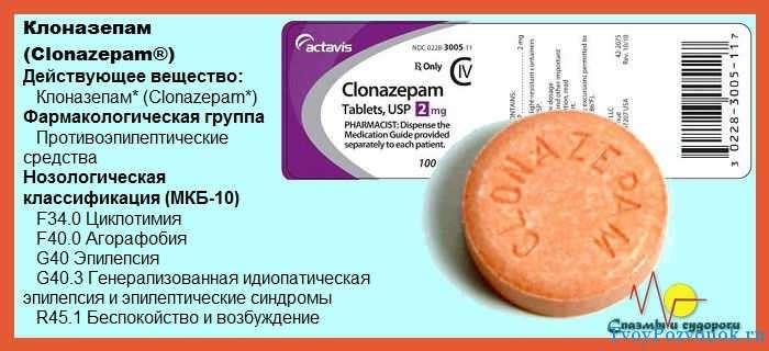 Клоназепам - инструкция по применению
