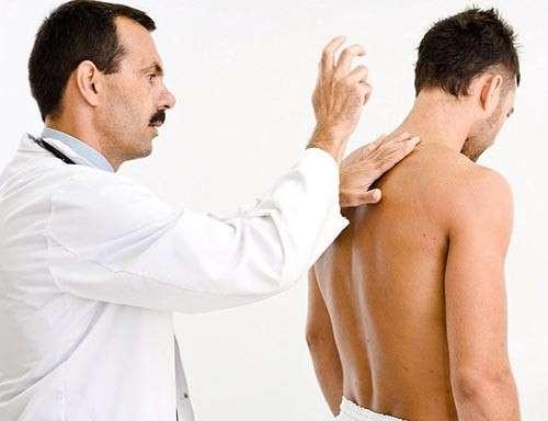 Осмотр при остеохондрозе при пальпации спины