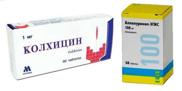 Аллопуринол колхицин