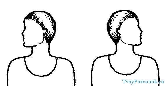 Вращение головы - влево и вправо