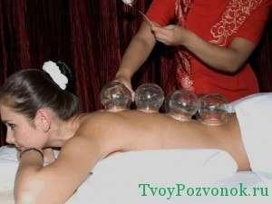 Вид баночного (вакуумного) массажа