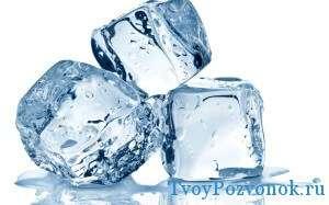 Лед поможет снять воспаление и боль
