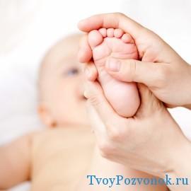 Постоянный массаж конечностей новорожденному