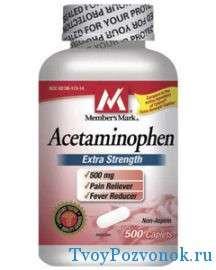 Ацетаминофен в таблетках